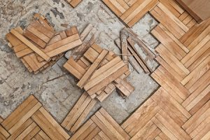 Water Damage to Hardwood Floor