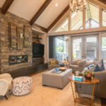 Custom rug in living room